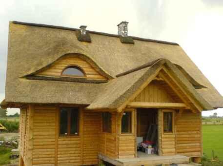 Фото дома с крышей из камыша 2