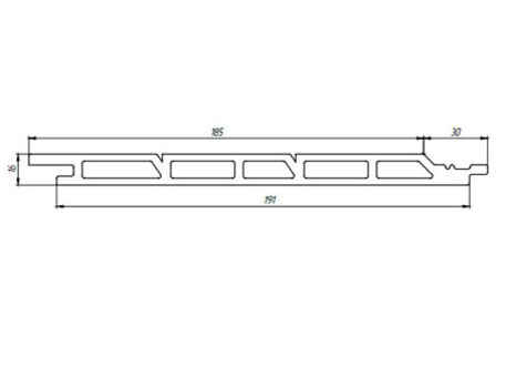 Рис 5: фасадная доска Tardex, размеры