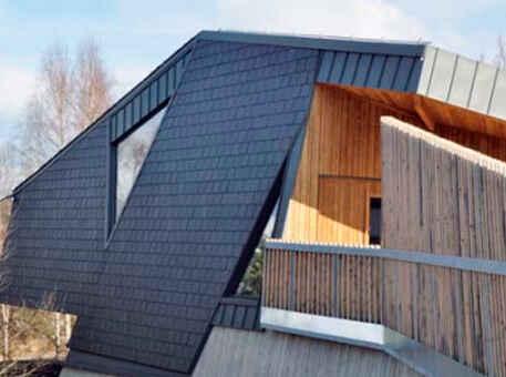 Фото 2. Сланец для фасада. Прямоугольная двойная кладка