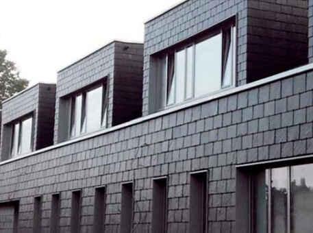 Фото 4. Сланец для фасада. Прямоугольная двойная кладка