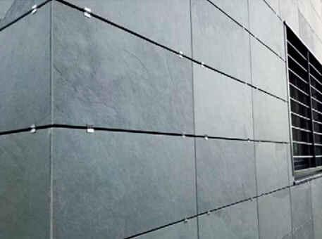 Фото 2. Сланец на фасад с симметричной кладкой