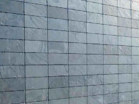 Фото 3. Сланец на фасад с симметричной кладкой