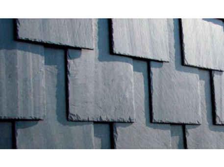 Фото 1. Сланец для фасада. Вертикальная кладка