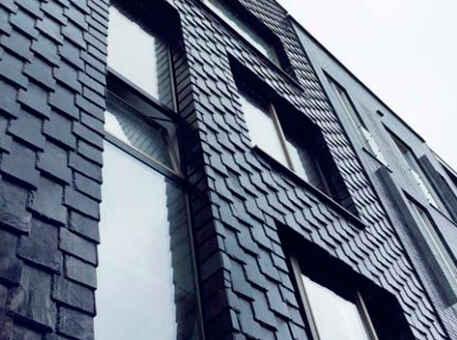 Фото 3. Сланец для фасада. Вертикальная кладка