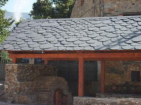 Крыша из сланца в дикой кладке