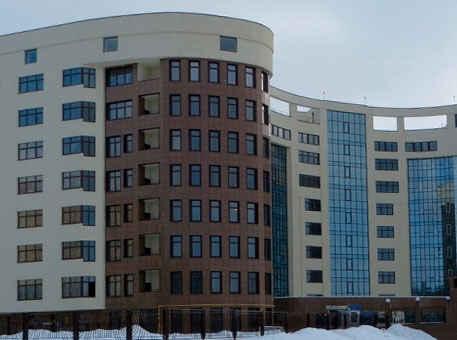 Жилая многоэтажка с вентилируемым фасадом